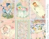 Digital Scrapbooking-Collage Sheet-Digital Card-Digital Image--Welcome Baby