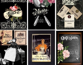 Black Label--Digital Scrapbooking-Collage Sheet-Digital Card-Digital Image