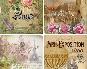 Digital Scrapbooking-Collage Sheet-Digital Card-Digital Image--Paris Grande