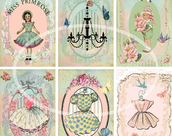 Girlie Girl--Digital Scrapbooking-Collage Sheet-Digital Card-Digital Image