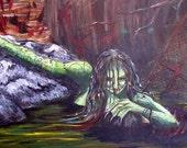 Sale - Green Jenny -  11X17 Art Print