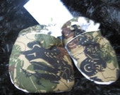 Fabric Baby Booties--Camoflauge ATV's