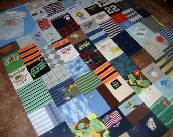 Custom Memory Quilt made from your Little Love's baby clothing- oversized/ adult size throw
