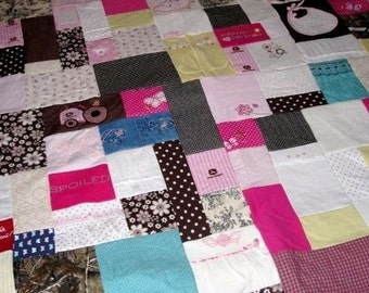 Custom Baby Memory Quilt made from your Little Love's clothing - small throw size