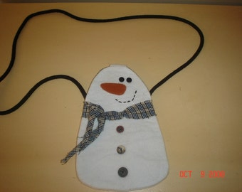 Small snowman purse