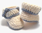 PATTERN Cuffed Baby Booties (Instant Download)