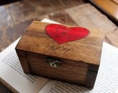 Rustic Woodburned Ring Bearer Box