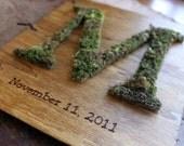 Custom Moss Monogram Wedding Guest Book