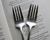 Vintage Forks -Bride and Groom