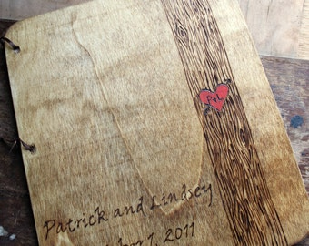 Custom Wedding Guest Book - Tree Trunk