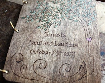 Custom Wedding Guest Book - Tree