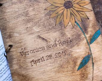 Custom Wedding Guest Book - Sunflower