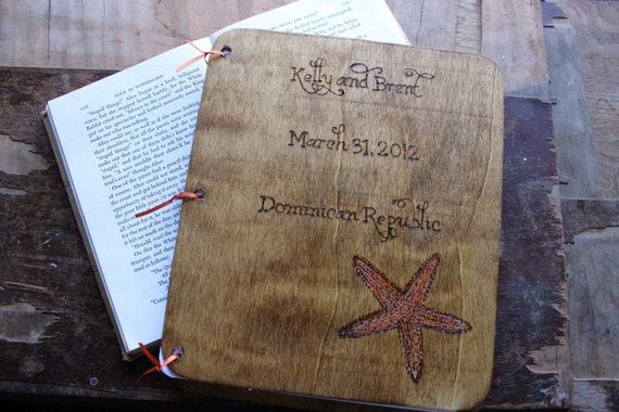Custom Wedding Guest Book - Starfish
