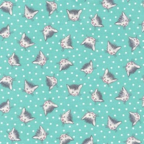Vintage Style Kitty Cat Fabric 1930s Reproduction