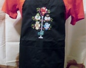 Hairdressers and barbers will love this Snip 'n' Style Tweet Full size Black Apron 2 pockets