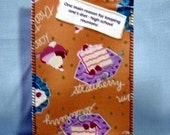 main reason for keeping diet Fabric Postcard Home Made in USA