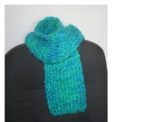 Red Heart Bright and Lofty Scarf - Turquoise\/Greens\/Blue