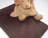 ORGANIC Cotton Pillowcase, Toddler/Travel-Sized, Chocolate Brown