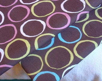 ORGANIC Cotton Pillowcase, Toddler/Travel-Sized - Circles, Pink or Teal