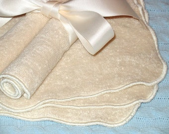 ORGANIC Cotton Washcloths - Set of 4