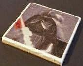 Darth Vader Marble Tile Coaster