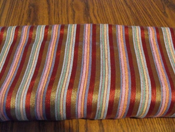 Fabric nylon and cotton combined stripes  New  three yards