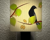 The Birds & The Bees Goldfinch w/ Mulberry Night Light Illuminary