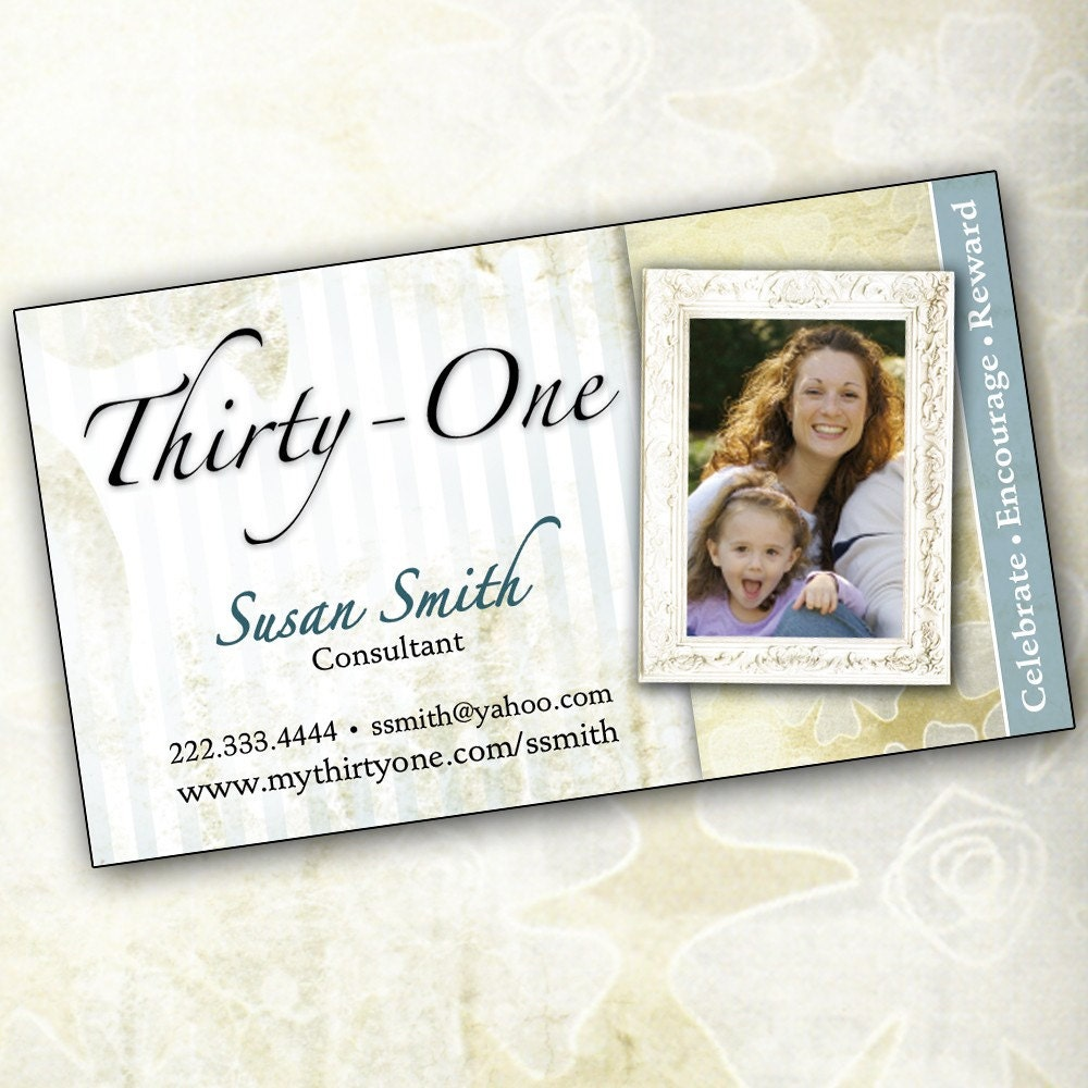 Thirty one business card template for Thirty one business cards vistaprint