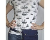 Convertible Hip Pouch - Navy Blue Duck Canvas