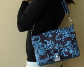 Utility Messenger - Amy Butler - Soul Blossoms  - English Garden in Stone Blue
