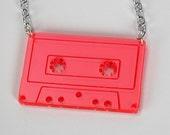 Mini Mix Tape - Laser Cut Acrylic Necklace