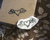 Heart and Wings Motif- Unmounted Stamp