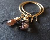 Elara Gold Filled and Gemstone Earrings - WINTER SALE -