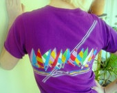 Purple 80s Wind Surfing Tropix Vintage Tshirt