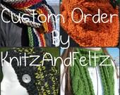 Chunky Knit Scarf - Custom Order Scarf - Extra Long Scarf - Wide Striped Scarf - Warm Winter Neckwarmer - Forest Green - Burgundy
