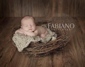 Chunky Blanket Prop - Cable Knit Photography Newborn Wrap - Trenchbowl Blanket - Basket Blanket Photo Cocoon in Oatmeal