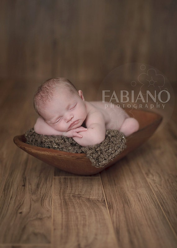 Knit Cable Blanket Prop - Newborn Baby Wrap - Chunky Knit Boy Blanket Prop - Newborn Girl Prop - Custom Photo Prop in Soft Cocoa Brown
