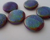 Fancy Plume Swirled Mood Bead