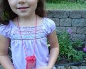 Dark Pink Beaded Amulet Bag