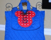 Boys girls personalized  Disney Minnie mickey mouse quilted backpack