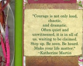 Gratitude Journal, Deep Pink, Green and White-Martin Quote