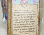 Gratitude Journal-Pink, Beige, Blue-Brooks Quote