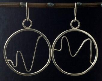 Sterling Silver Handmade Hoop Earrings