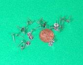 Pierced Earring Studs- Silver Toned