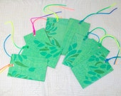 Upcycled Green Gift Tags
