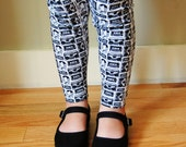 Leggings 80's Headphones and Mix Tapes - Girls Size 2T /3T - by The Trendy Tot