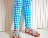 Blue Gingham Plaid Leggings  - Girls Sizes 12-18 mos, 2 / 3, 4 / 5, 6 / 7 - by The Trendy Tot