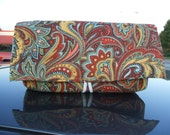 Coupon Organizer  Wallet Holder Autumn Paisley Fabric