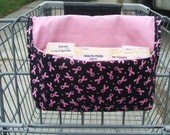Coupon Holder Organizer Fundraiser Breast Cancer Pink Ribbon Fabric