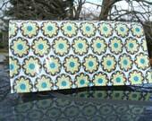Waterproof Coupon Organizer Yellow Floral Fabric
